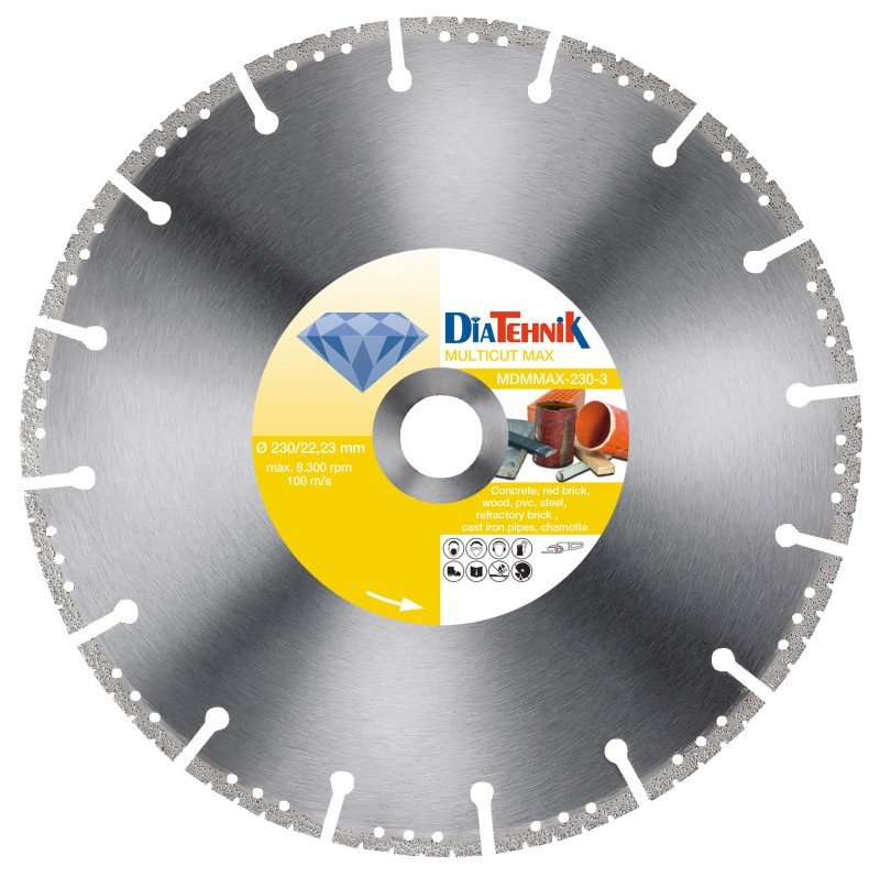 Disc diamantat MulticutMAX 300x20mm pentru diverse materiale [MDMMAX-300-2]